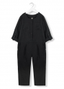 kids on the moon - playful Overall Leinen schwarz