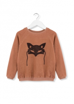 kids on the moon - Frottee-Sweatshirt black fox mask