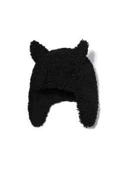 kids on the moon - FAUN Faux Fur Cap black