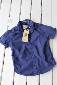 SCOTCH SHRUNK - Kurzarm-Hemd aus leichtem Sommercotton royal blue