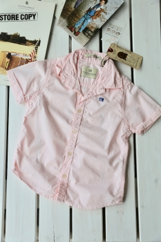 SCOTCH SHRUNK - Kurzarm-Hemd aus leichtem Sommercotton rose